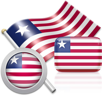Liberian flag icons pictures collection