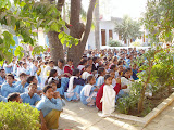 High School students at morning assembly