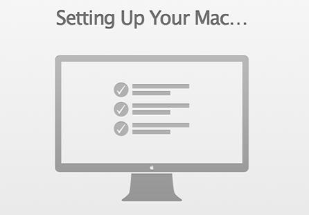 Tunggu setting Mac OS X hingga selesai