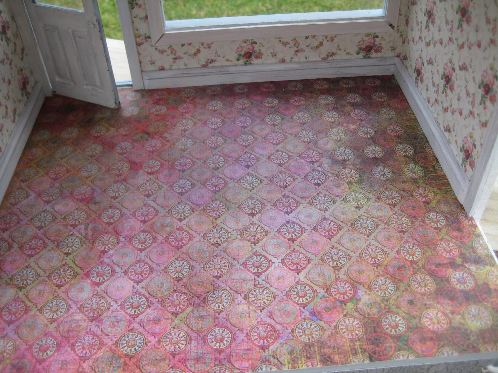 Scrapbook paper dollhouse wallpaper - Wednesday March 9 2011