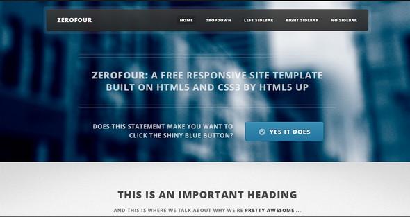 Zerofour HTML5 UP