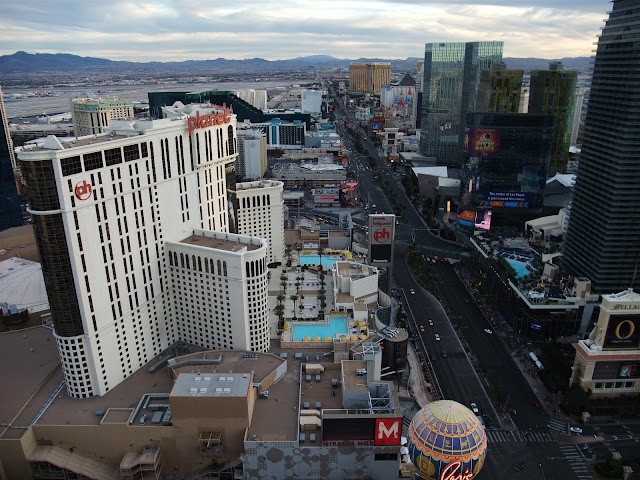 view of the strip from the eiffel tower, las vegas, south, ph, planet hollywood