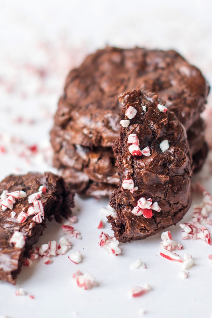 flourless chocolate peppermint cookies for gluten free Christmas