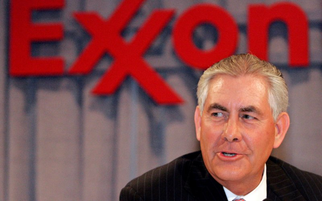 Former CEO of ExxonMobil, Rex Tillerson. Photo: Mike Stone / Reuters