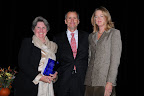 Luanne Samuel, CFRE, president, Greater Dallas Chapter, Association of Fundraising Professionals; Mike and Mary Terry (Outstanding Philanthropists)