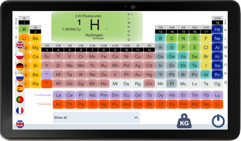 PERIODIC TABLE FOR A SMARTPHONE- screenshot