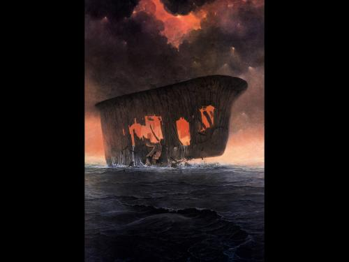 Zdzislaw Beksinski Fire Ship, Death
