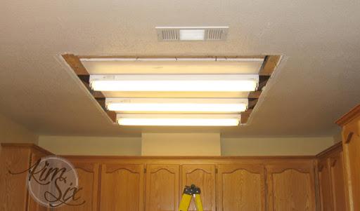 removing a fluorescent kitchen light box the kim six fix rh thekimsixfix com Fluorescent Light Fixture Covers kitchen fluorescent light replacement ideas