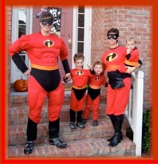 Randy with his wife and kids dressed up as the Incredibles