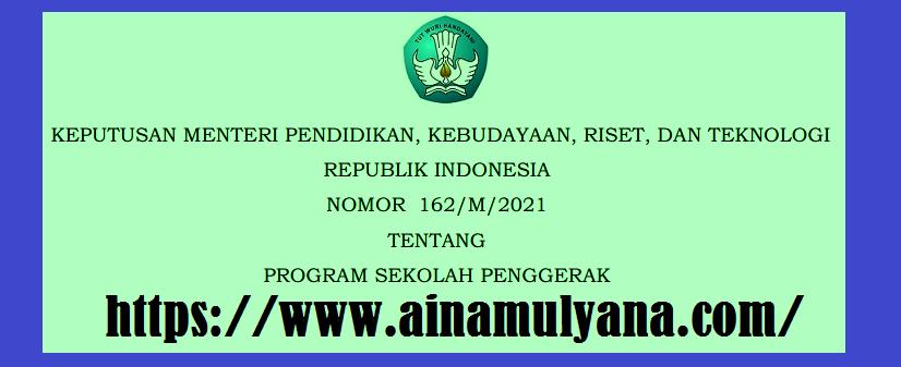 Keputusan Mendikbud Ristek Nomor 162/M/2021 Tentang Program Sekolah Penggerak