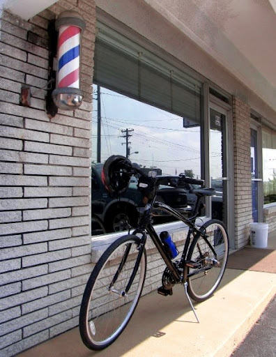 Barber Pole and Bicycle
