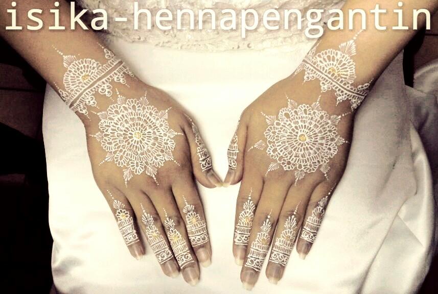 Jasa Henna Pengantin Jakarta White Bridal Henna Henna Pengantin Putih
