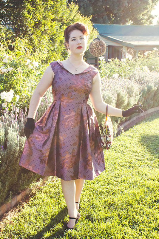 Formal 1950s ensemble for a wedding | Lavender & Twill