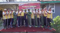 Meriahkan HUT Bhayangkara ke-73, Polsek Paguyangan Polres Brebes olah raga bersama