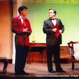 David Finkle and Jeff Nuding in THE IMPORTANCE OF BEING EARNEST (R) - December 1989.  Property of The Schenectady Civic Players Theater Archive.