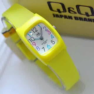 jam tangan  Q&Q 4ladies Yellow
