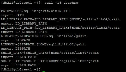 DB2 Instance User profile file
