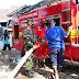 Akibat Konsleting Listrik, Dapur Rumah Habis Terbakar, Babinsa dan Tim Damkar Datang Padamkan Api