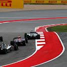 Rosberg going wide after 1st corner