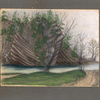Drawing by a child of Robert Harvey and Julia Benbow Gleaves