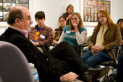 Salman Rushdie Having A Discussion