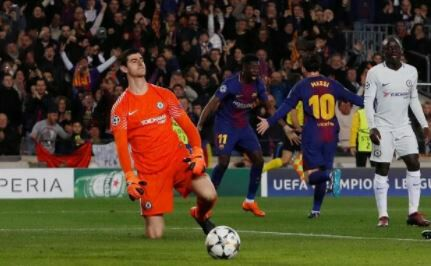 Thibaut Courtois Reveals The reason Messi Scored from his Leg