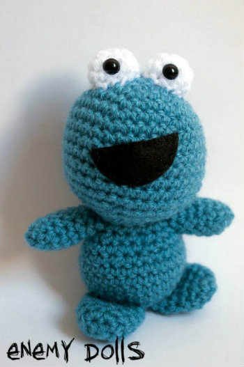 Montruo de las galletas Cookie monster amigurumi