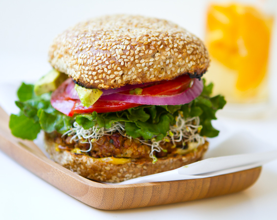 Spicy Vegan Chili Burgers Red Beans Rice Healthyhappylife Com