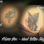 angel butterfly - Cover UP Tattoos Pictures