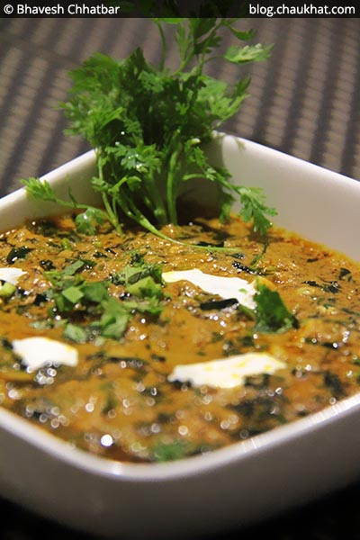 Close-up of Methi Chaman at SocialClinic Restobar in Koregaon Park area of Pune