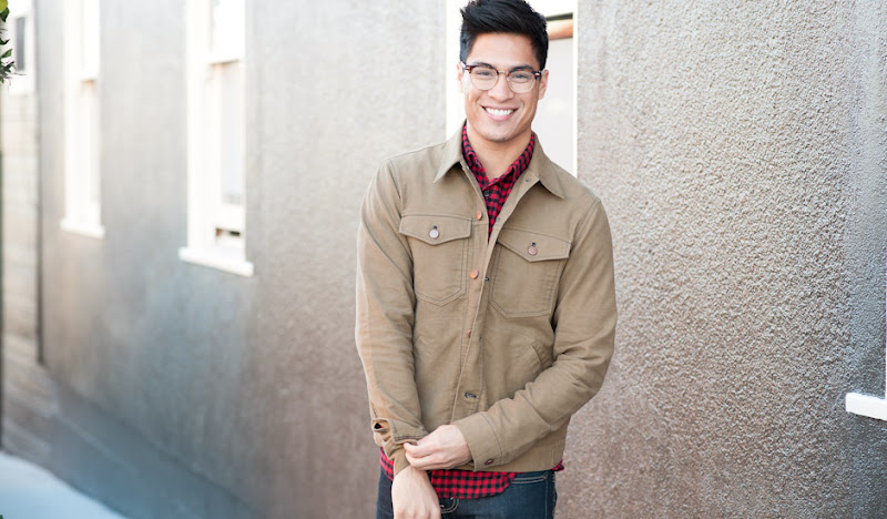 Khaki Moleskin Jean Jacket: Pairs well with plaid anything!