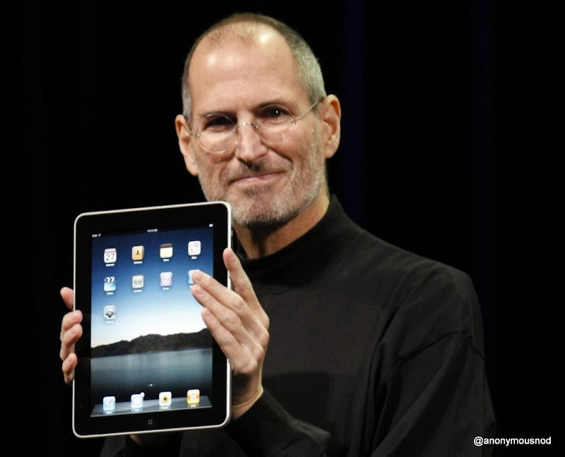 Steve Jobs introduces iPad