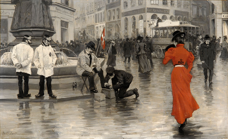 Paul Gustave Fischer - Dame in Rot.j
