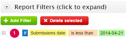 123ContactForm filter reports on submission date