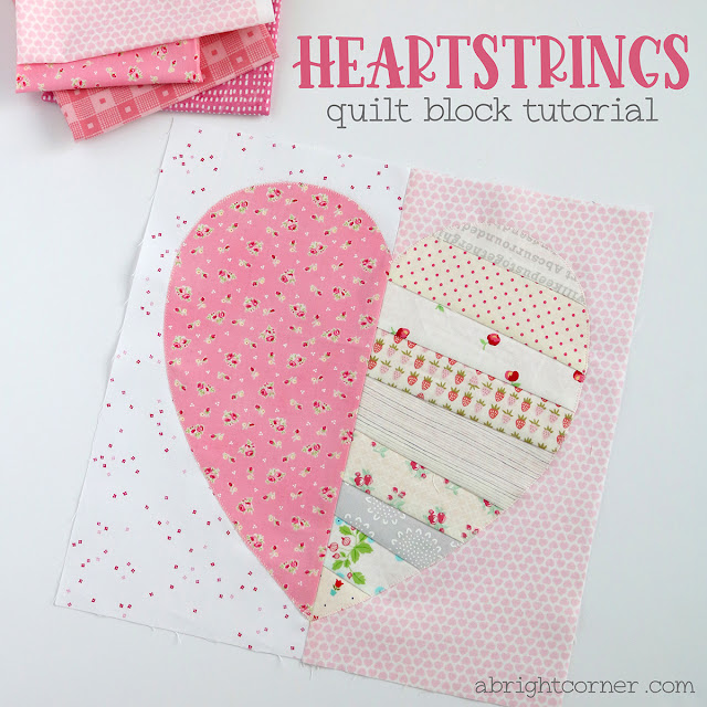 Heartstrings Quilt Block Tutorial by Andy of A Bright Corner