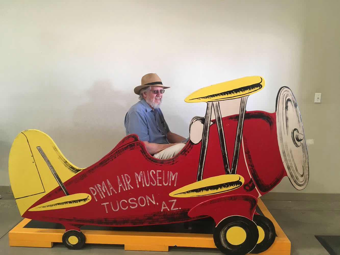 Resident Astronomer George indulges his inner child at the Pima Air Museum (Source: Palmia Observatory)