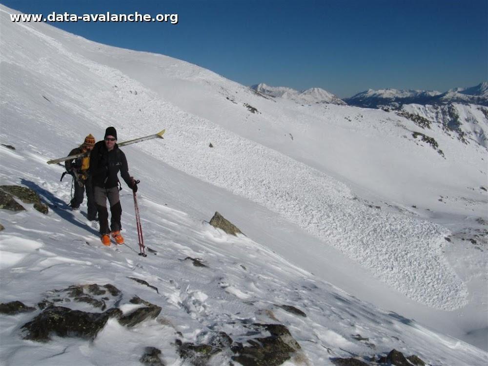 Avalanche Cerces, secteur Crête de Mome - Photo 1 - © Gurviez Thomas