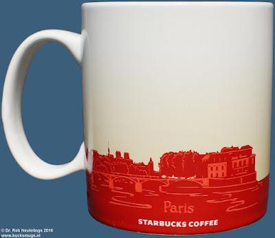 Paris Starbucks Coffee icon mug version 1 (back) France