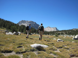 Gary and Jim.... cross-country to Vogelsang (Gary has worked in Yosemite for 25 years and knows all the short cuts!)