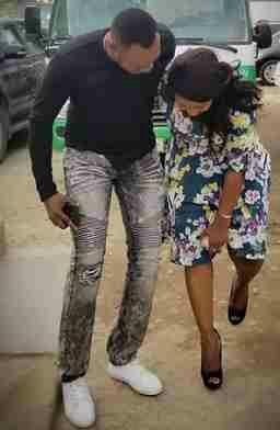 Phoos: Uche Jombo & Odunlade Adekola In Warm Embrace