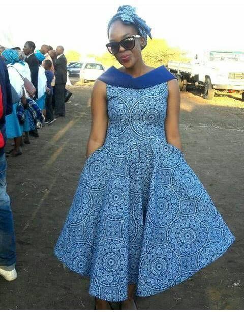 Trendy Shweshwe Dresses Styles For Woman 2019 1