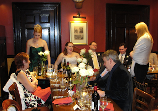 Photo: Waiting to be served. Lisa's mum, Ruth, seated at left