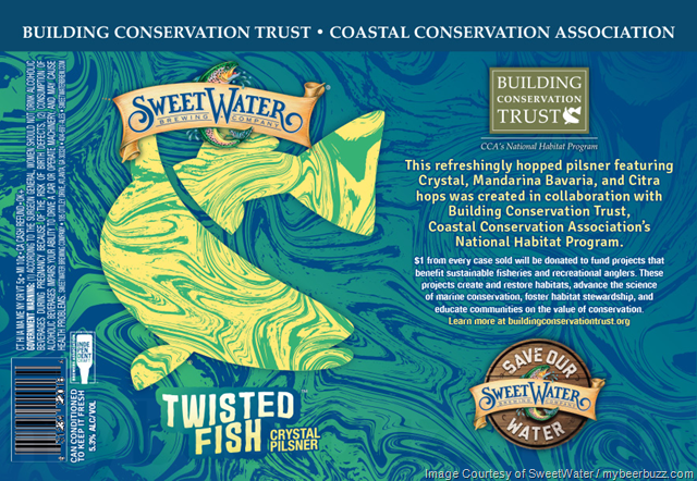 SweetWater Adding Twisted Fish Crystal Pilsner Cans