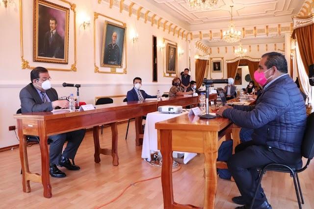 """Anuncia alcalde de Huamantla inversión por 1.8 MDP. para la rehabilitación de la plaza de toros """"La Taurina""""."""
