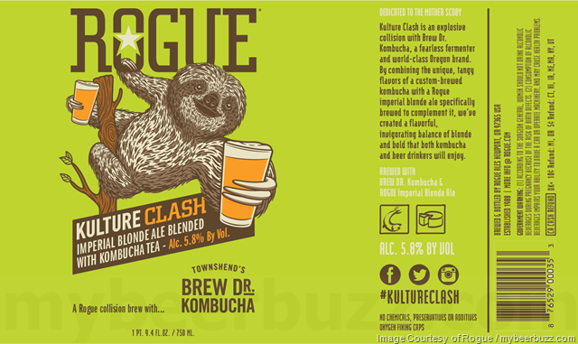 Rogue Adding Kulture Clash Imperial Blonde w/Kombucha Tea (April 2018)