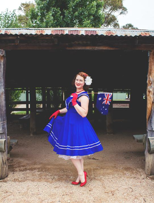 1950s Australia Day Retro Outfit | Lavender & Twill