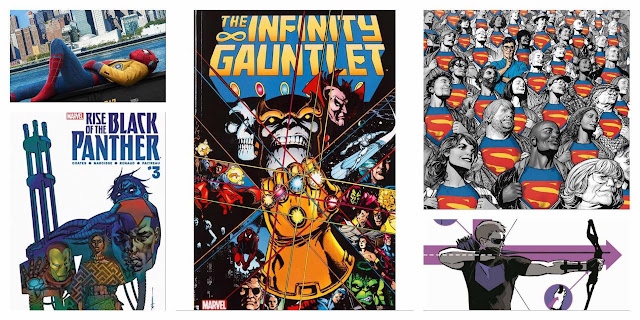GIVEAWAYS: Enter to Win THE INFINITY GAUNTLET, SPIDER-MAN HOMECOMING, HAWKEYE, VOL. 1, RISE OF THE BLACK PANTHER, and SUPERMAN: AMERICAN ALIEN!