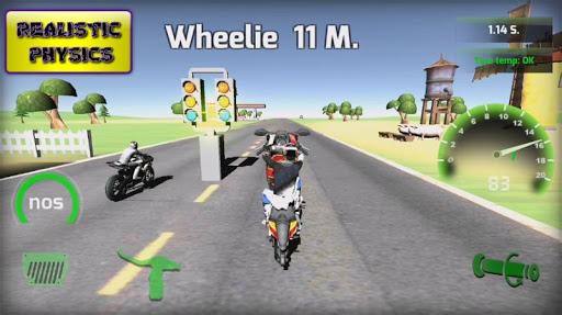 Motorbike real 3D drag racing Wheelie Challenge 3D  screenshots 6