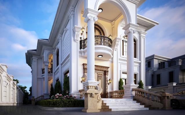 Xem ngay xu hướng thiết kế biệt thự tân cổ điển 2 tầng tại TP. Vinh