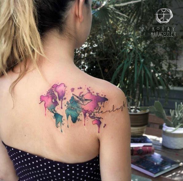 esta_aquarela_mapa_na_parte_de_trs_do_ombro